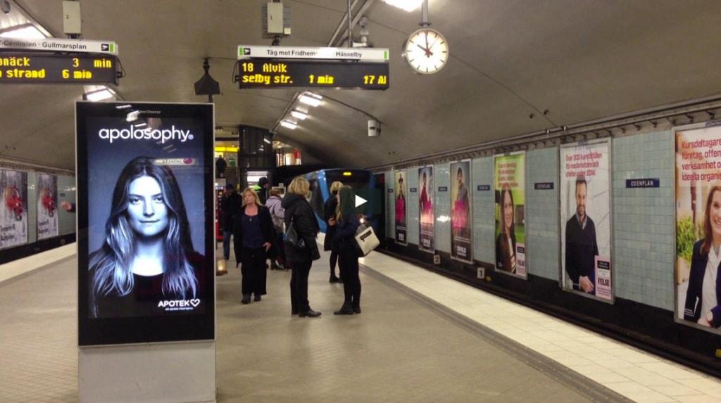 Narrowcasting op een metrostation